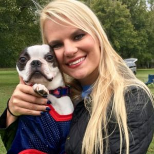 women with her Boston Terrier. How To Adopt A Boston Terrier From A Rescue: Exclusive Interview